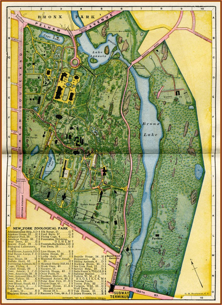 Maps Bronx Zoo