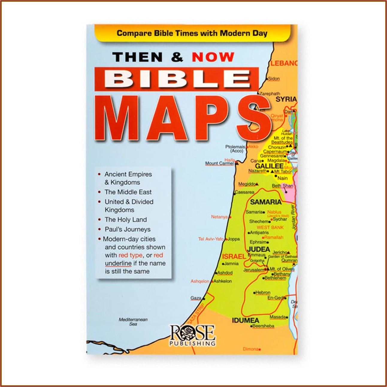 Maps Of The Bible Then And Now