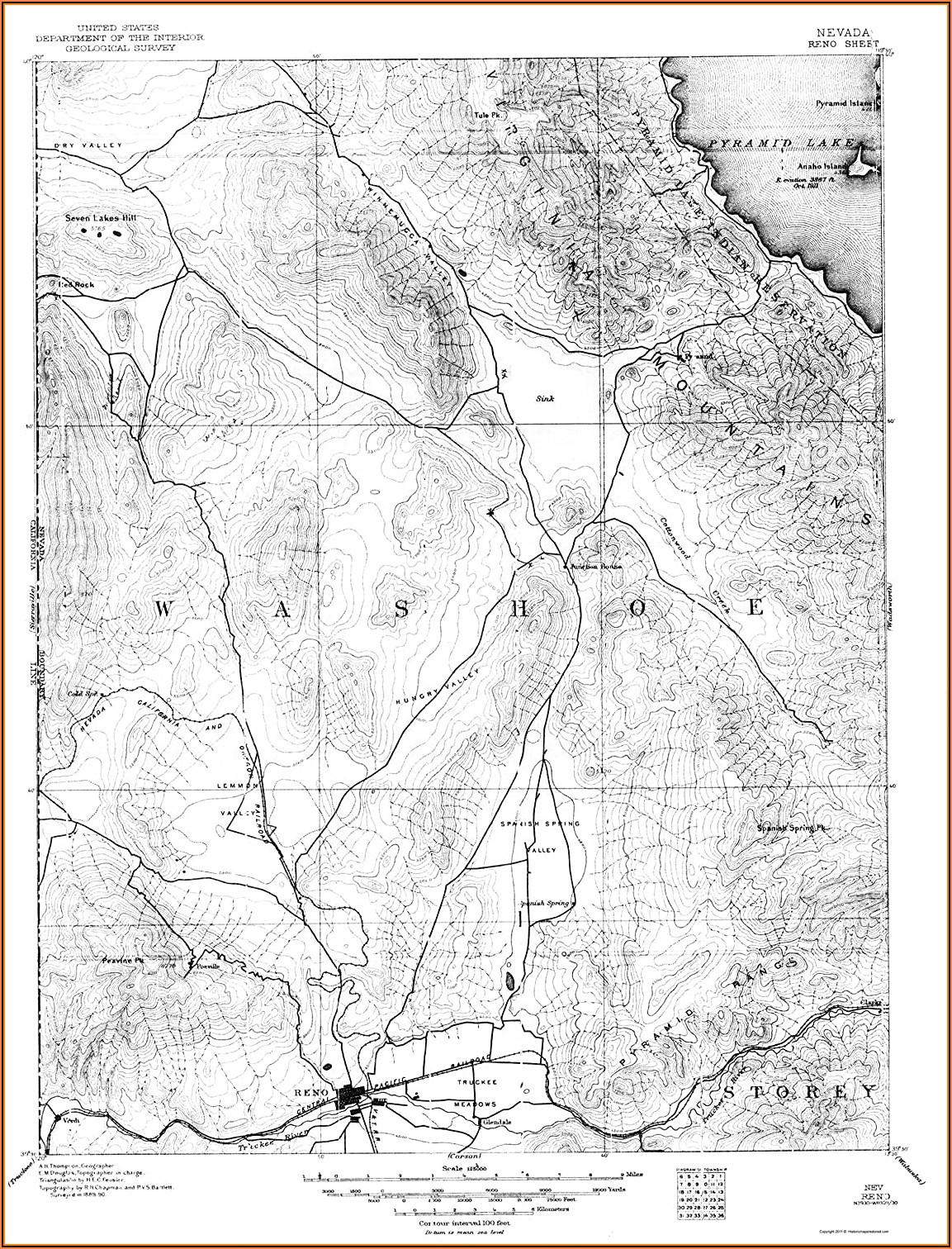 Maps Reno Nevada