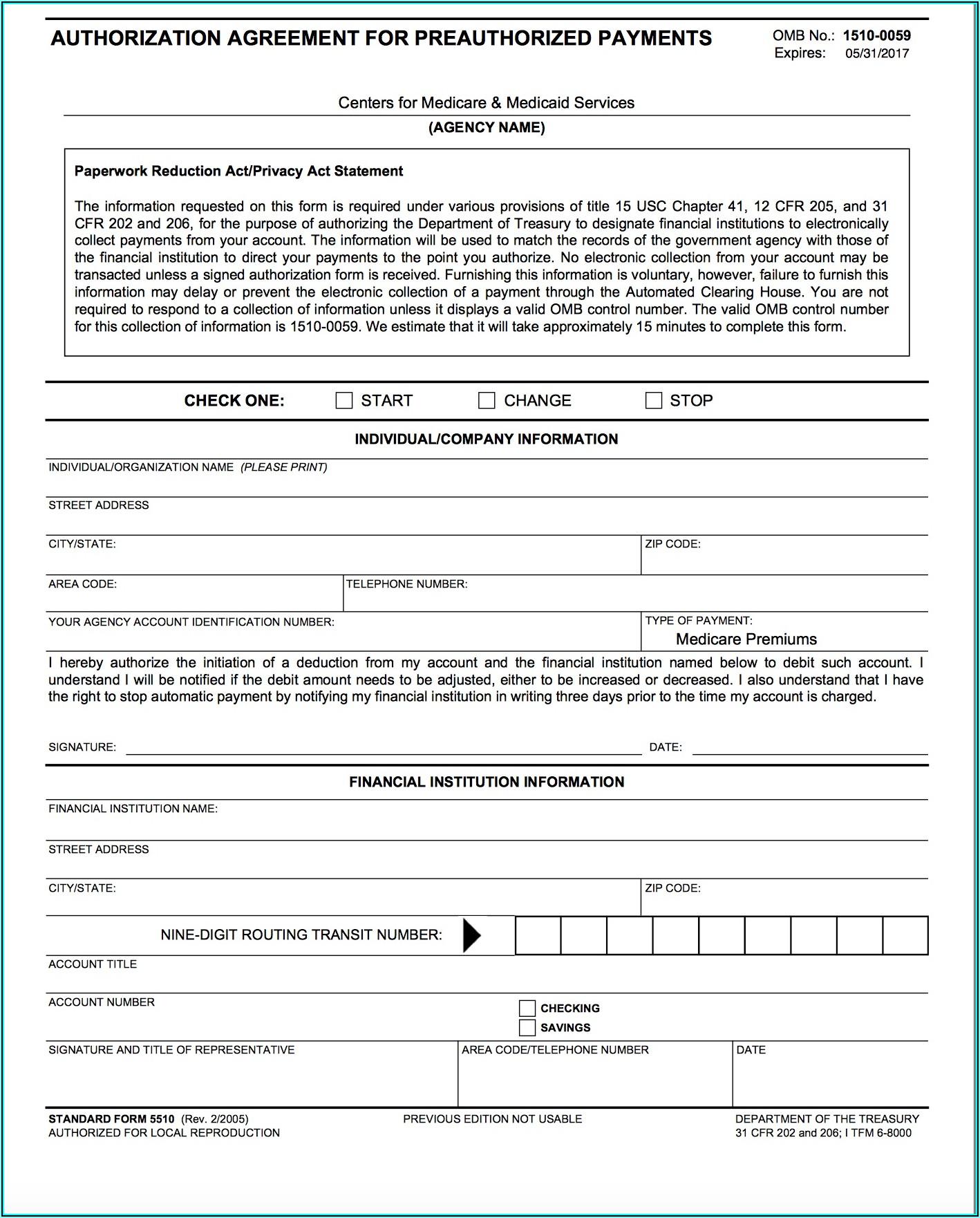 Medicare Form 5510 Signature And Title Of Representative