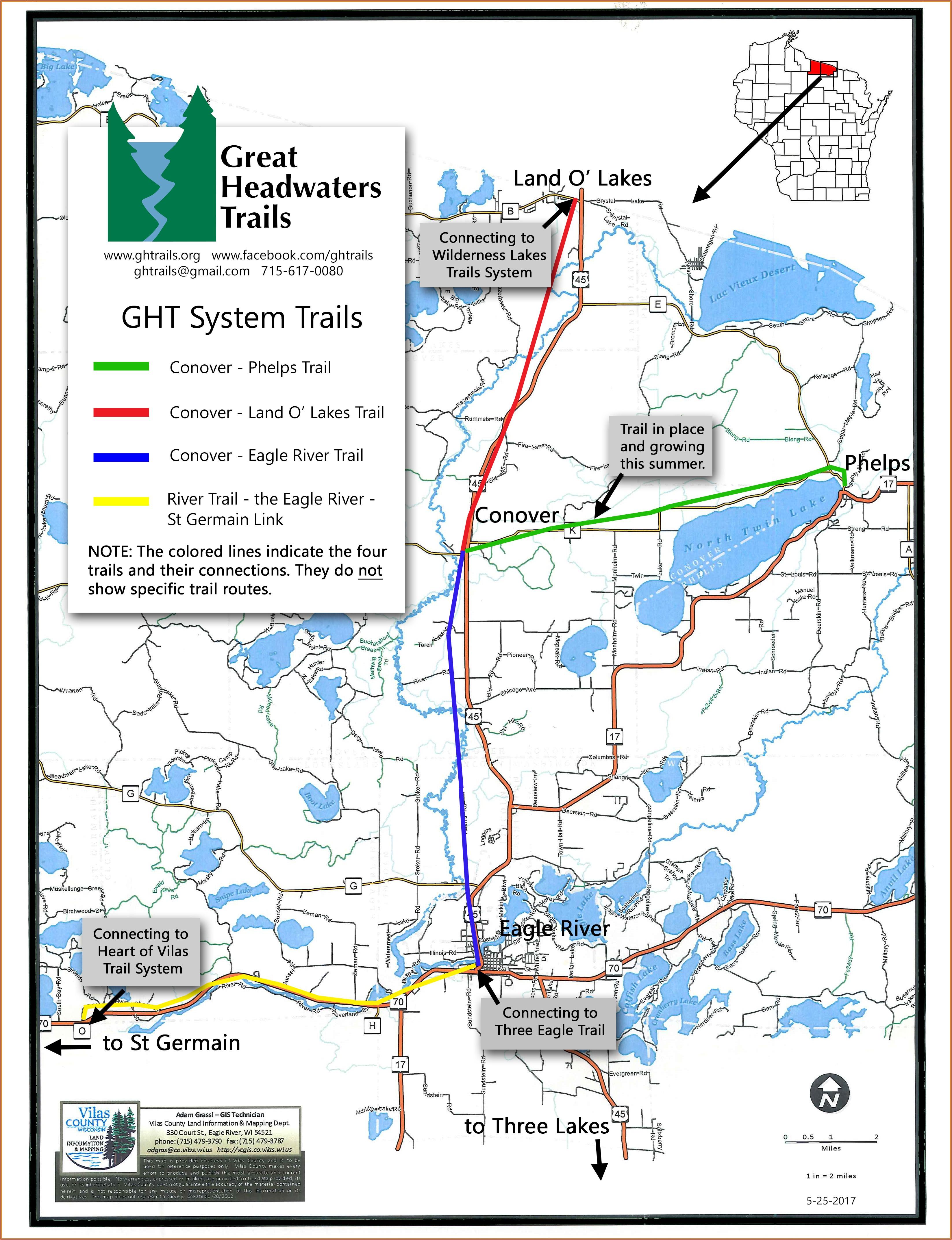 Mercer Wi Snowmobile Trail Map