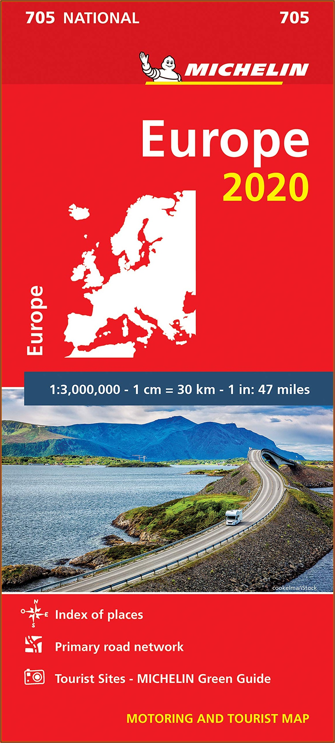 Michelin Europe Map 705