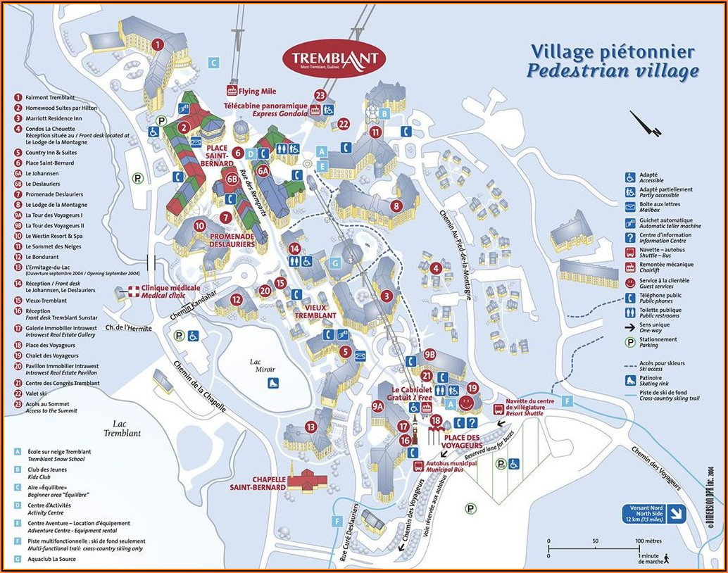 Mont Tremblant Hotel Map