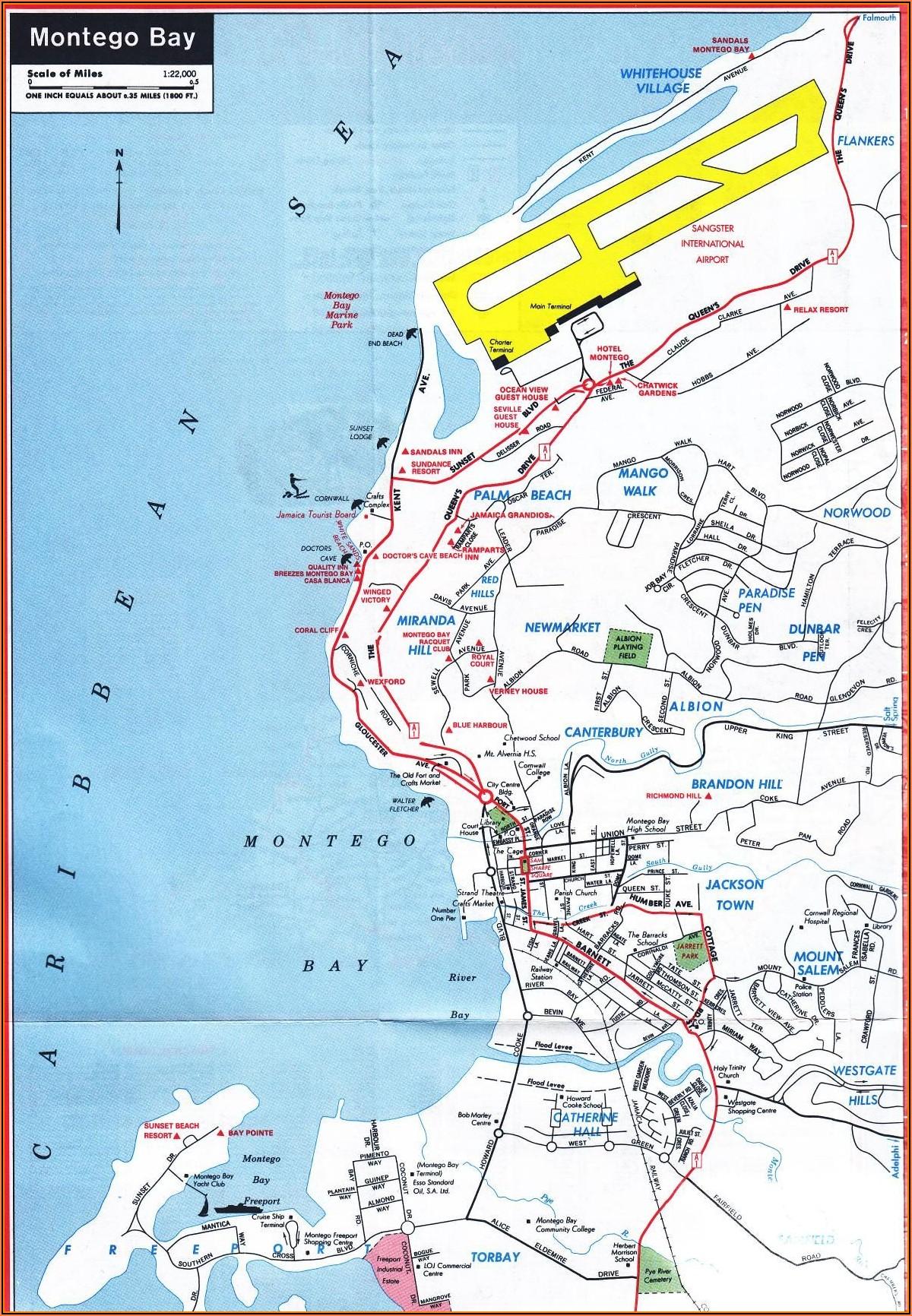 Montego Bay Hotels Map