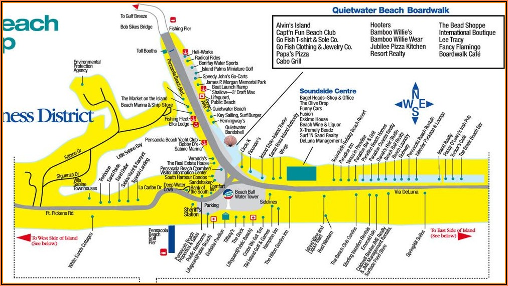 Myrtle Beach Map Of Hotels And Attractions