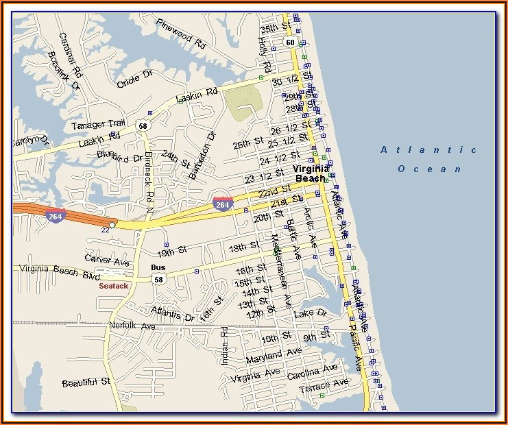 Myrtle Beach Oceanfront Hotels Map