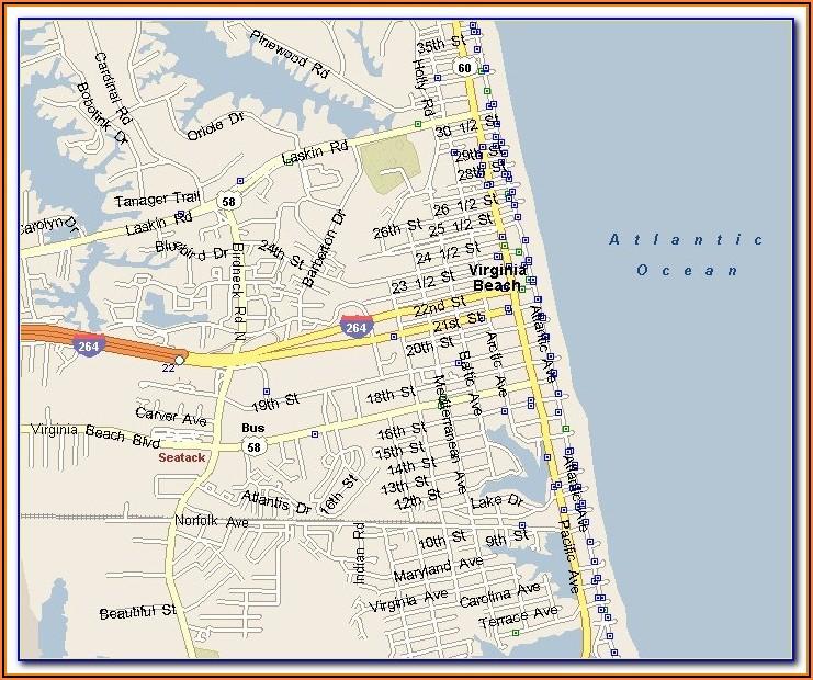 Myrtle Beach Oceanfront Hotels Map