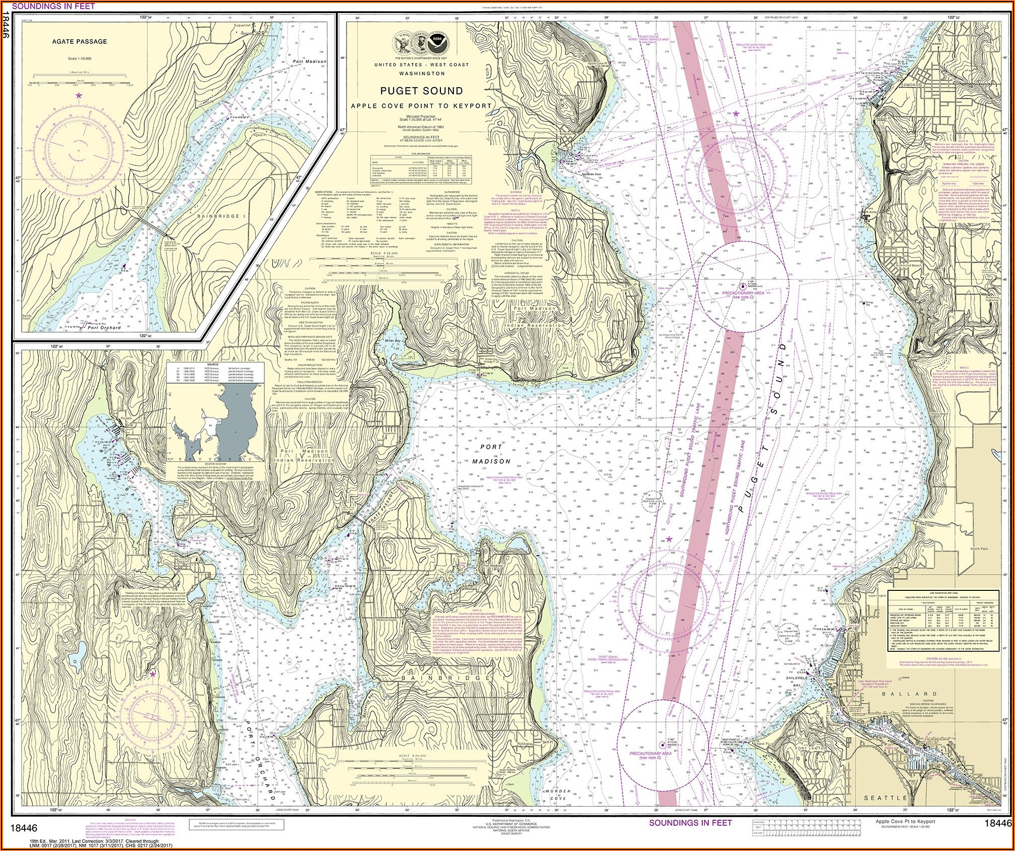 Nautical Maps Of Puget Sound