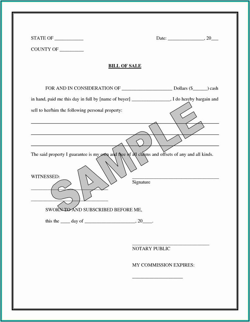 Notary Acknowledgement Form Texas