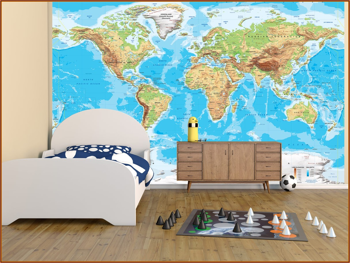 Nursery Decal World Map