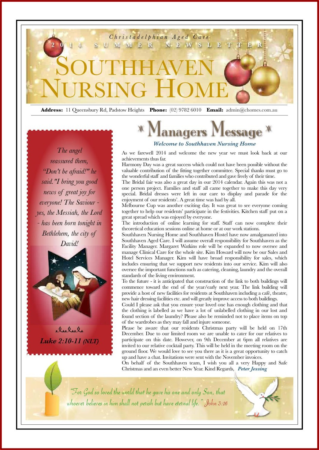 Nursing Home Newsletter Template