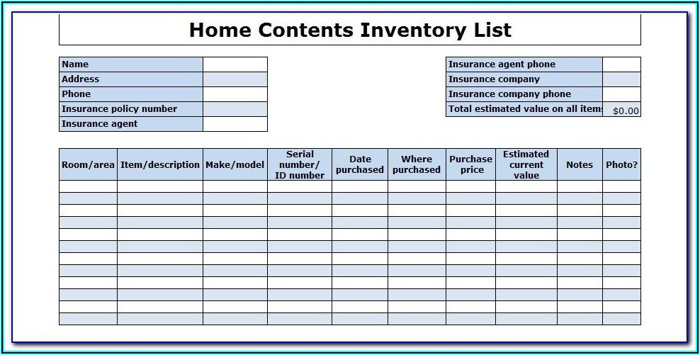 Office Supplies Inventory Checklist