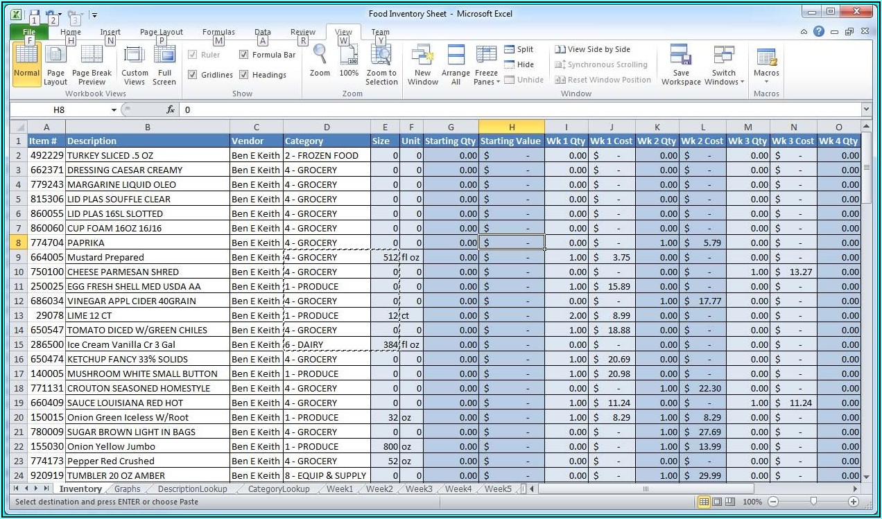 Office Supplies Inventory Format