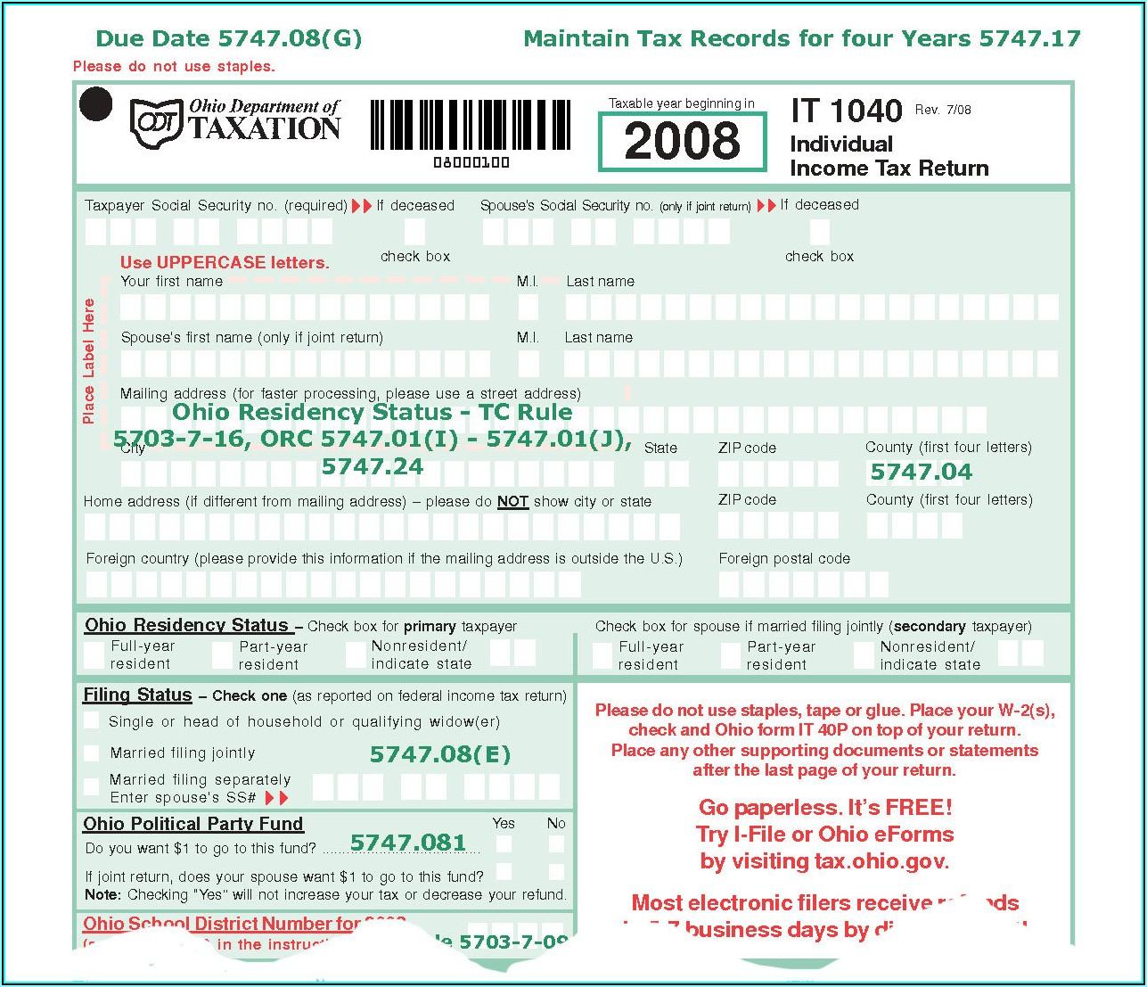 Ohio.gov Tax Forms