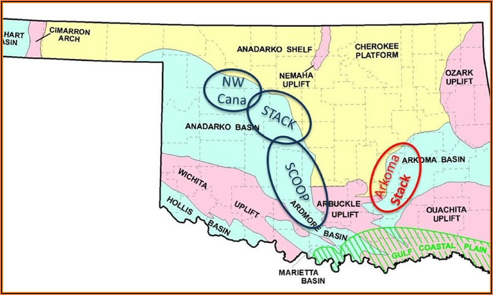 Oklahoma Oil And Gas Production Map