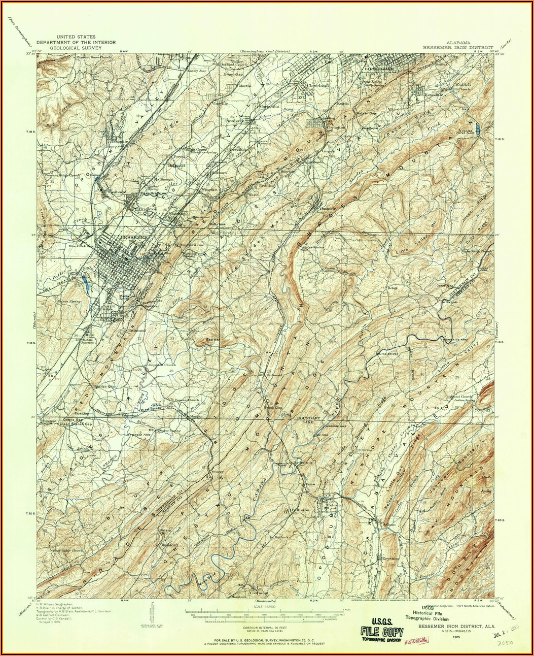 Old Topo Maps Alabama
