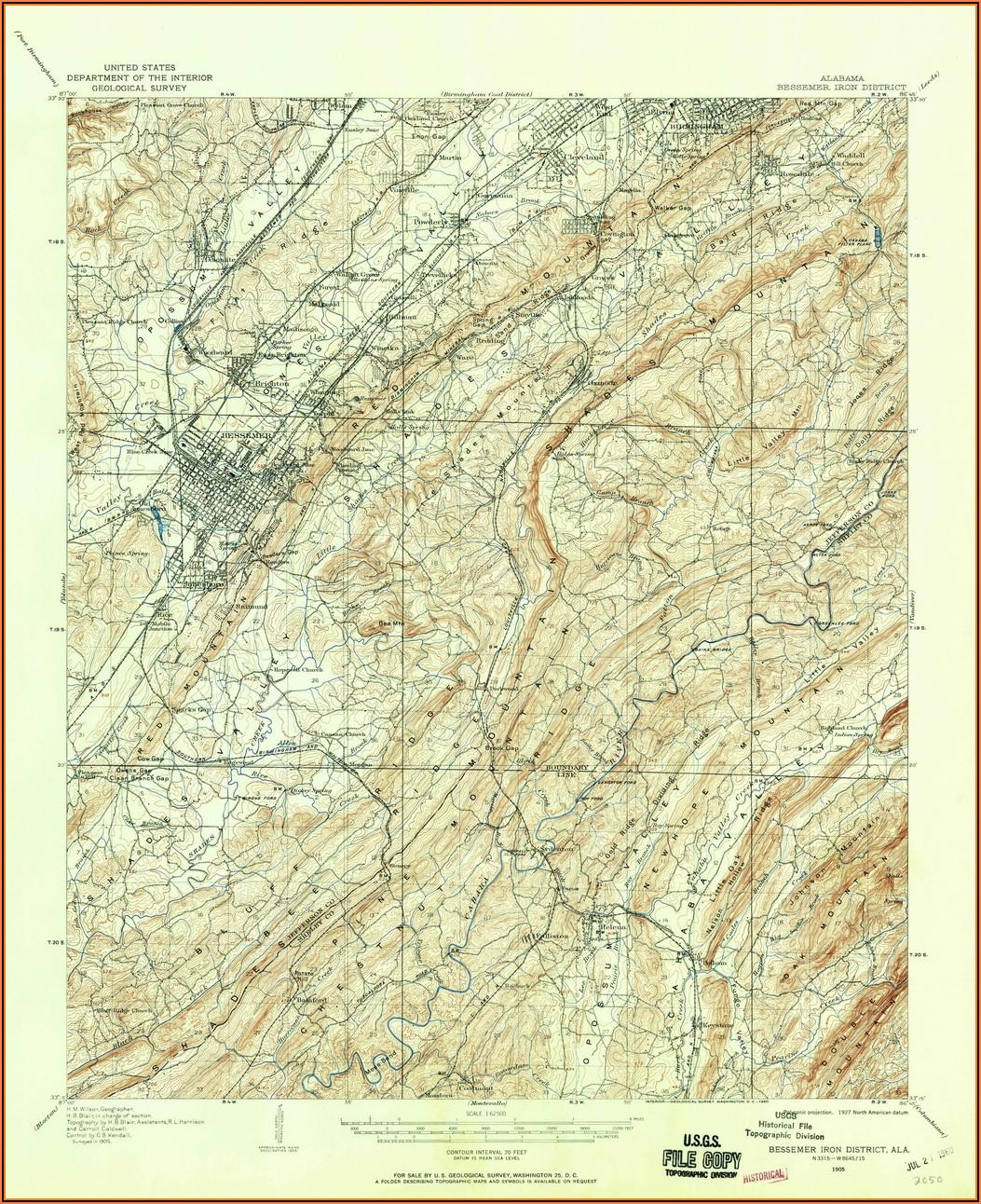 Old Topo Maps Alabama
