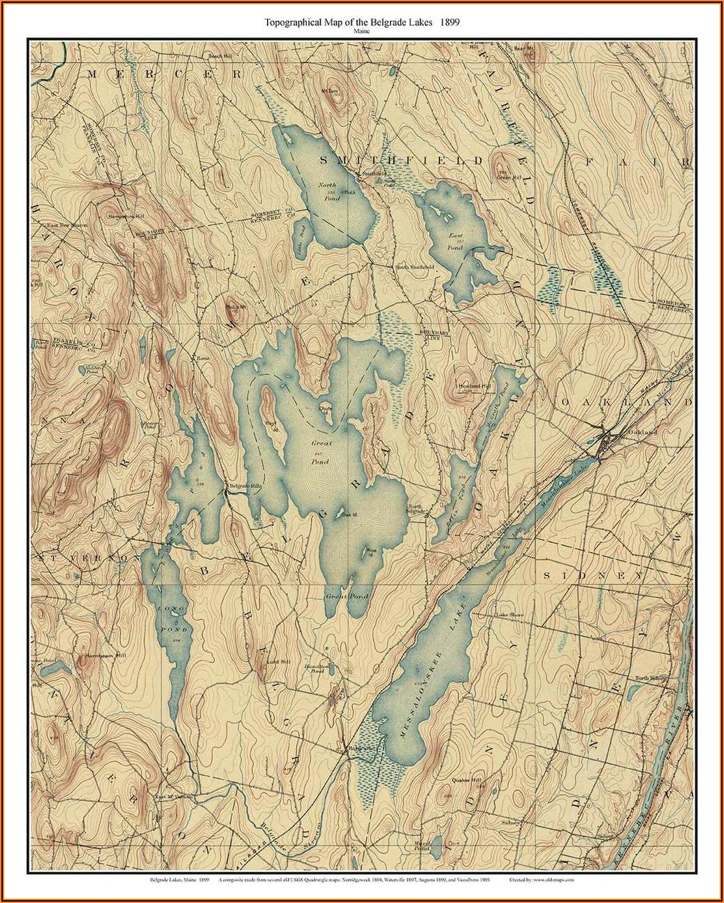 Old Topo Maps Maine