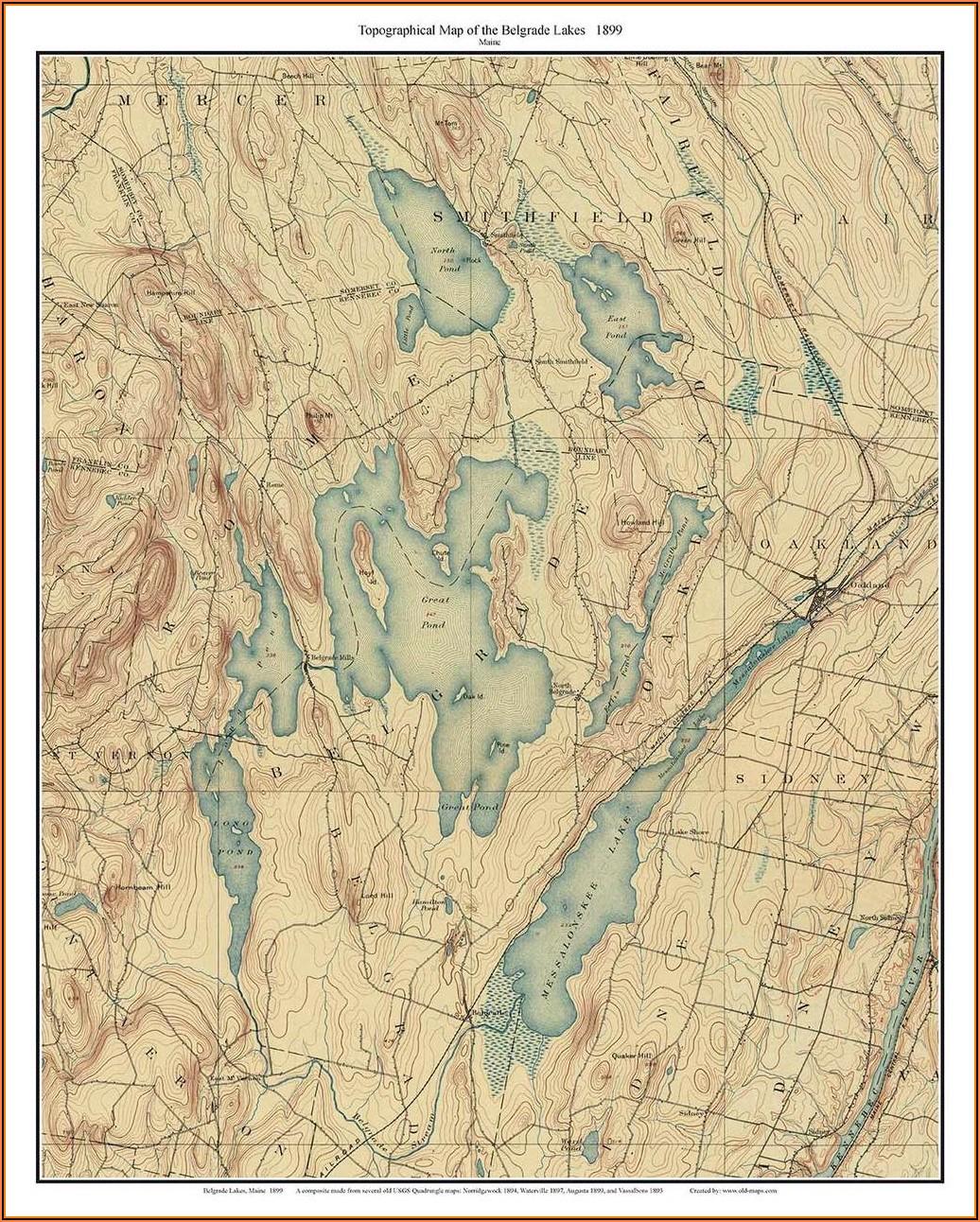 Old Topo Maps Maine