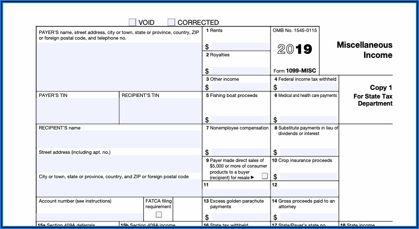 Order Form 1099 Misc 2019 From Irs