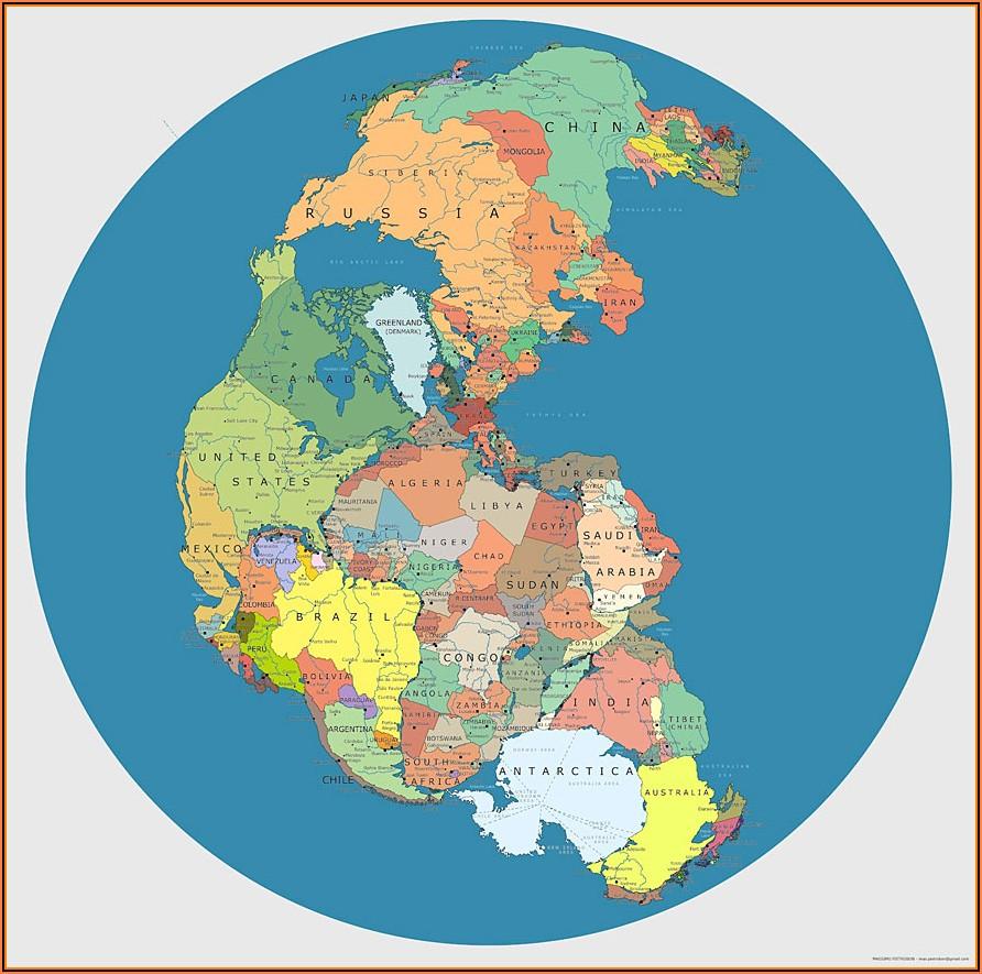 Pangaea World Map