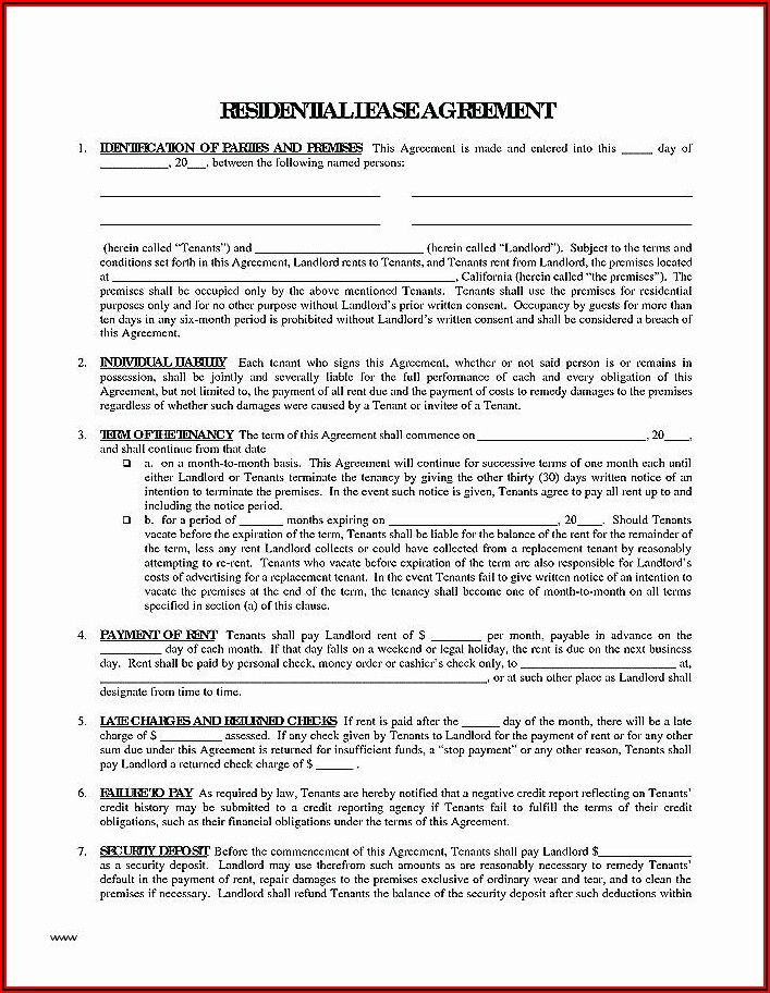 Parking Space Lease Agreement Free Template Uk