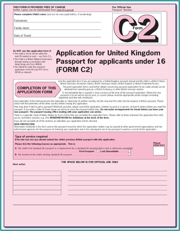 Passport Renewal Form Printable Uk