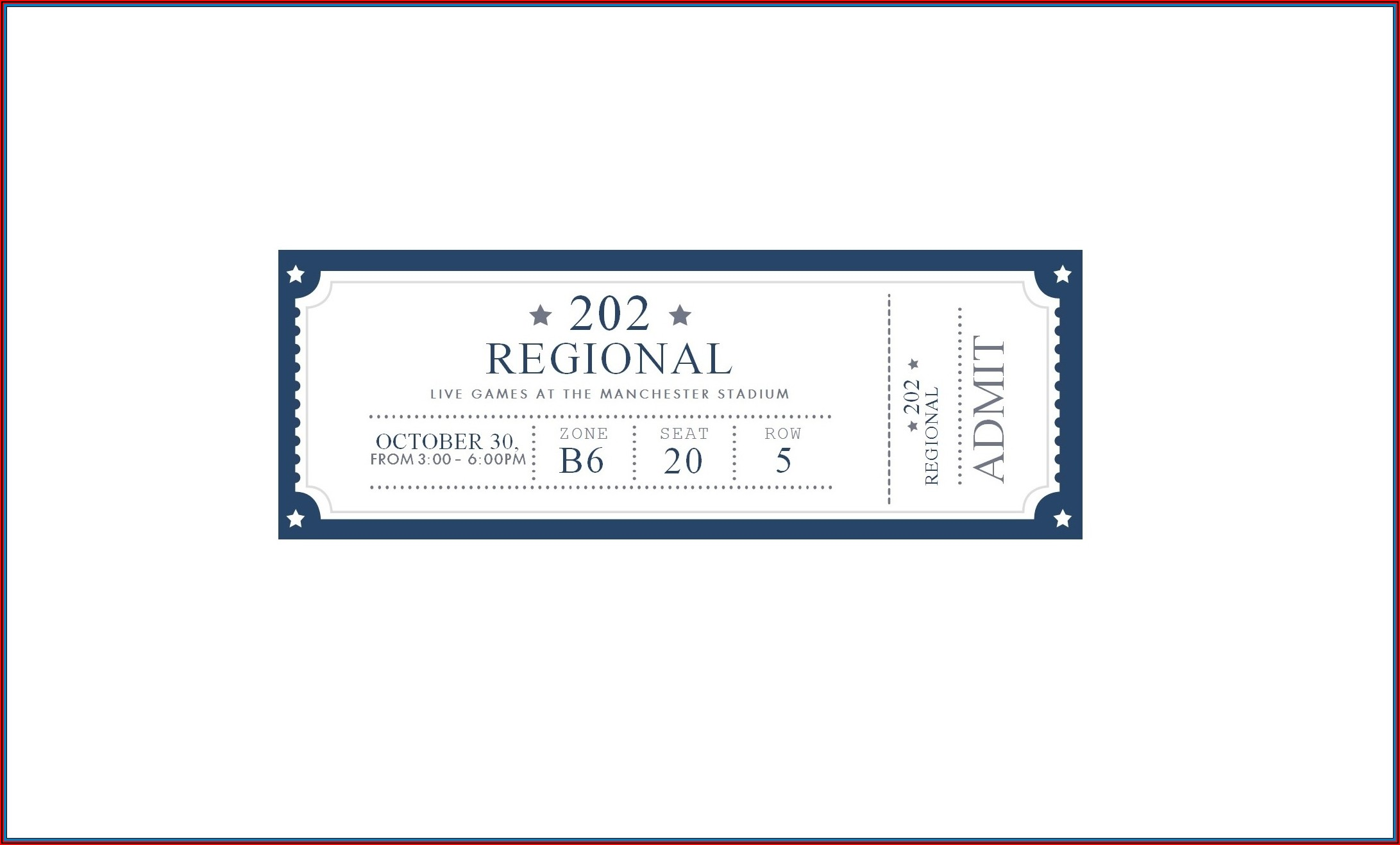 Perforated Event Ticket Template