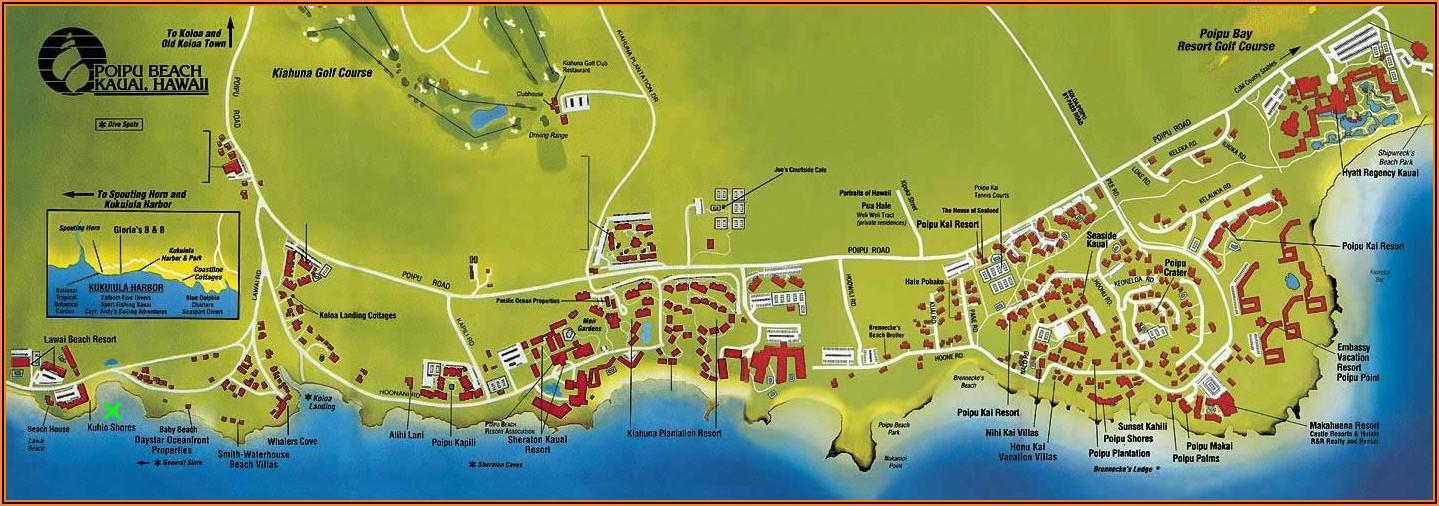 Poipu Beach Condo Map