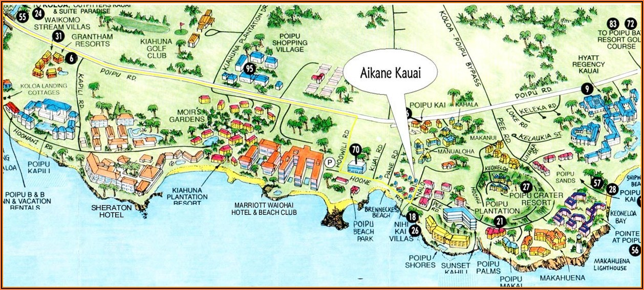 Poipu Condo Map