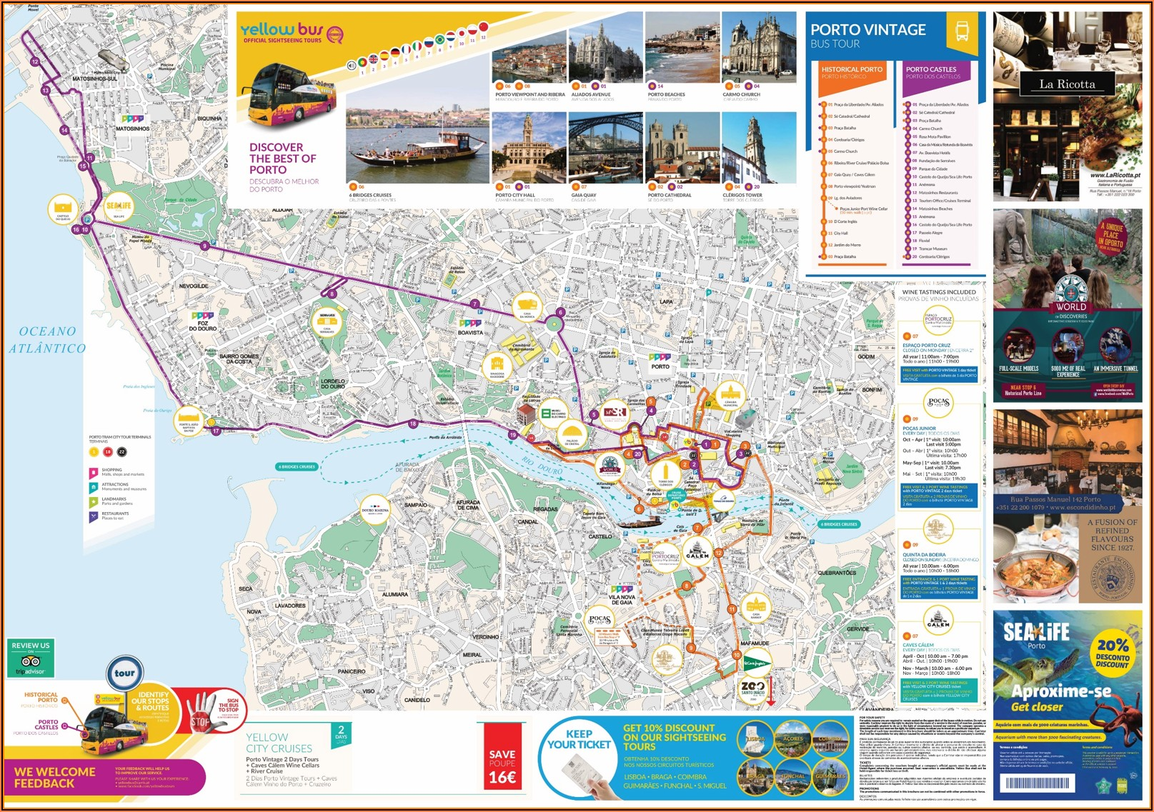 Porto Hop On Hop Off Bus Route Map