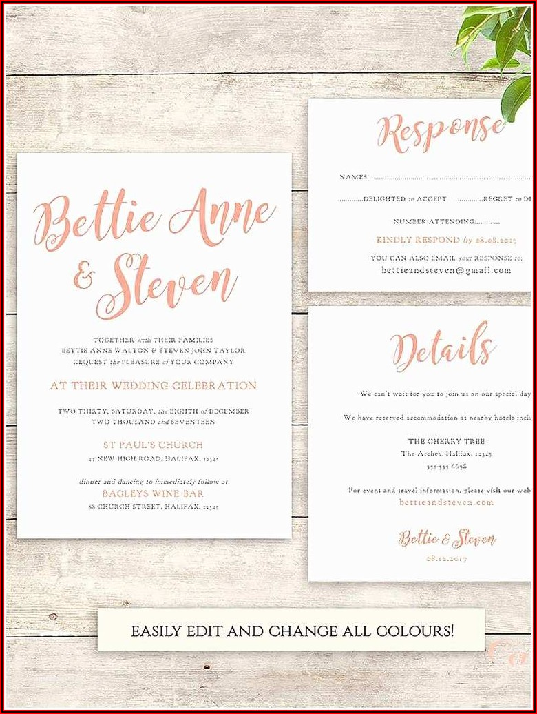 Postcard Wedding Invitations Templates Free