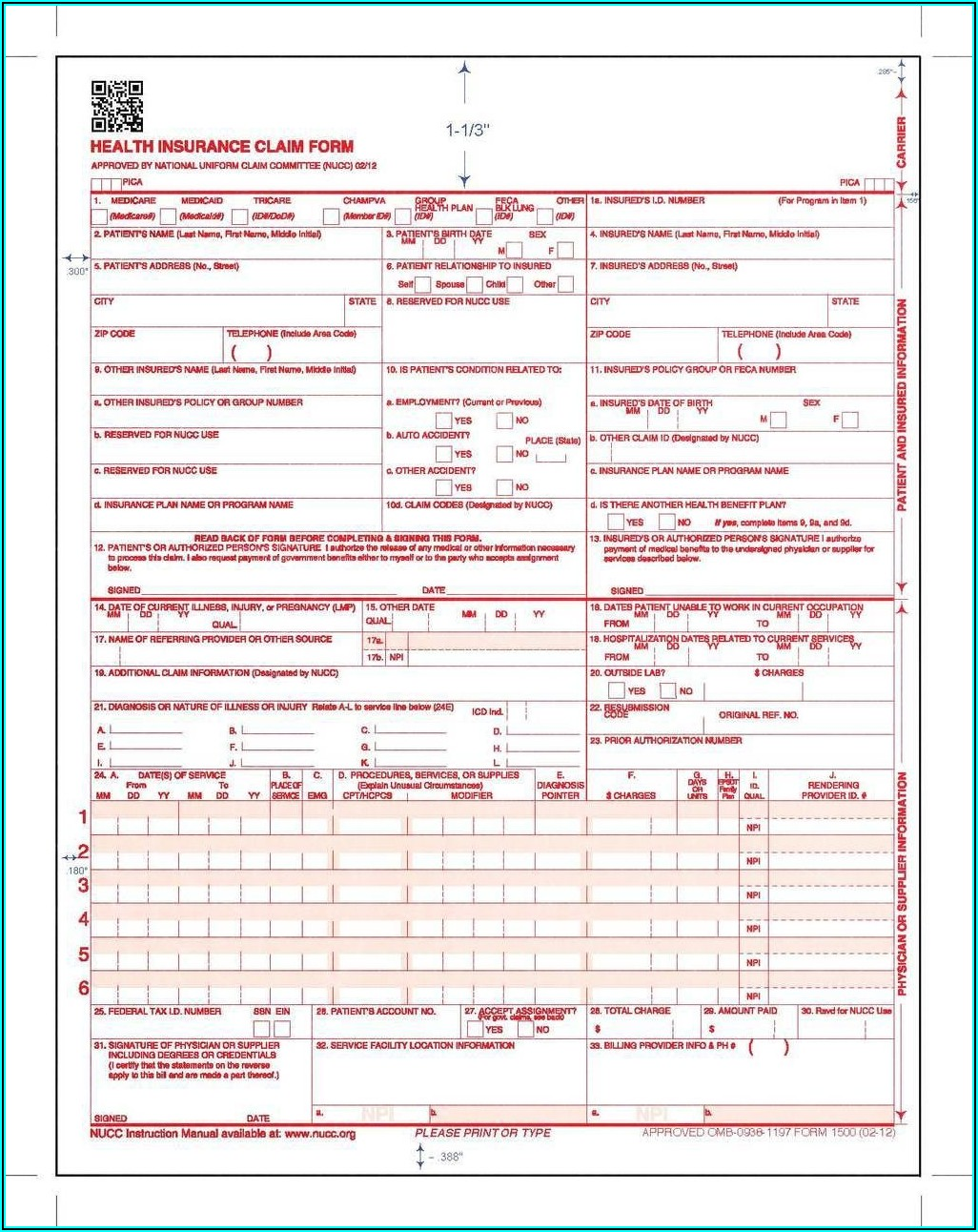 Practice Filling Out Cms 1500 Forms
