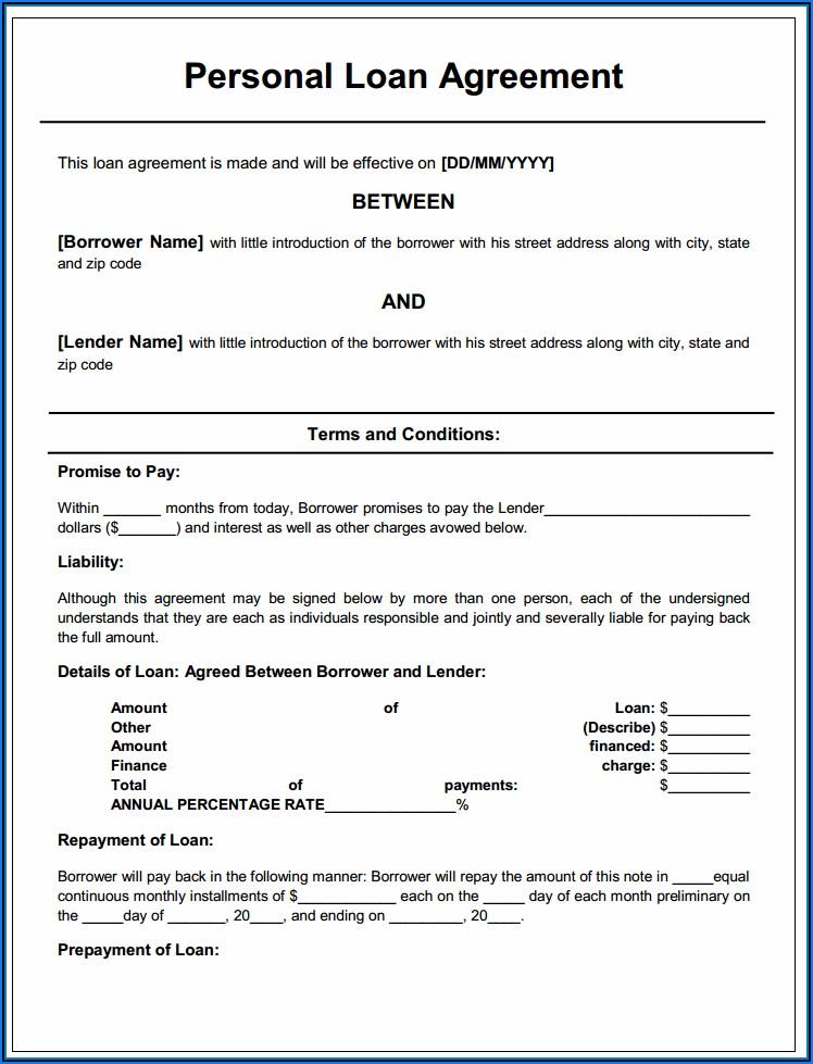 Printable Car Loan Application Form