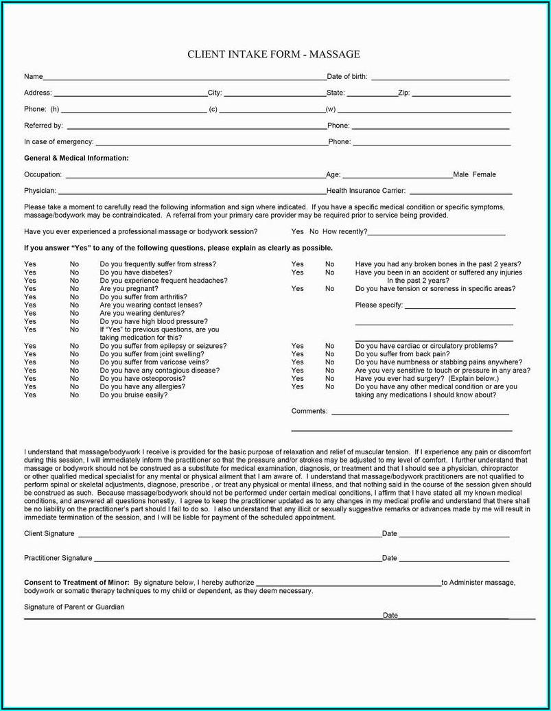 Printable Dermaplaning Consultation Form