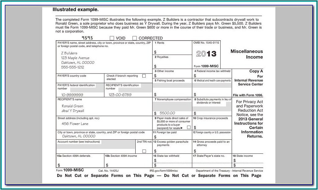 Printable Form 1099 Int
