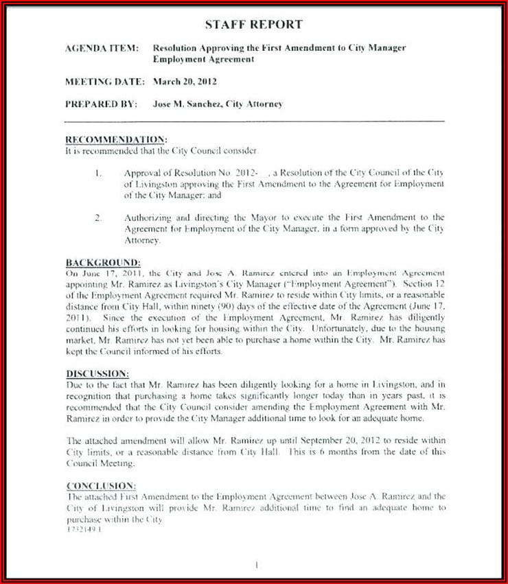 Probationary Employment Contract Template
