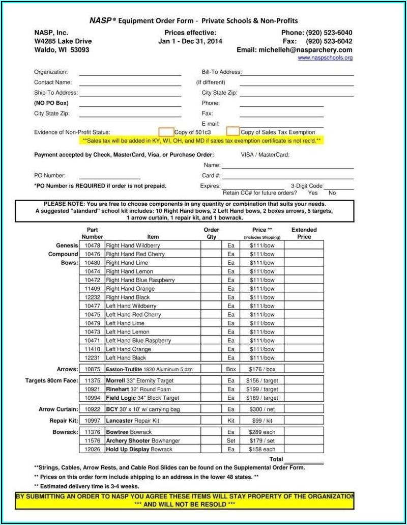 Purchase Order Format Excel Download