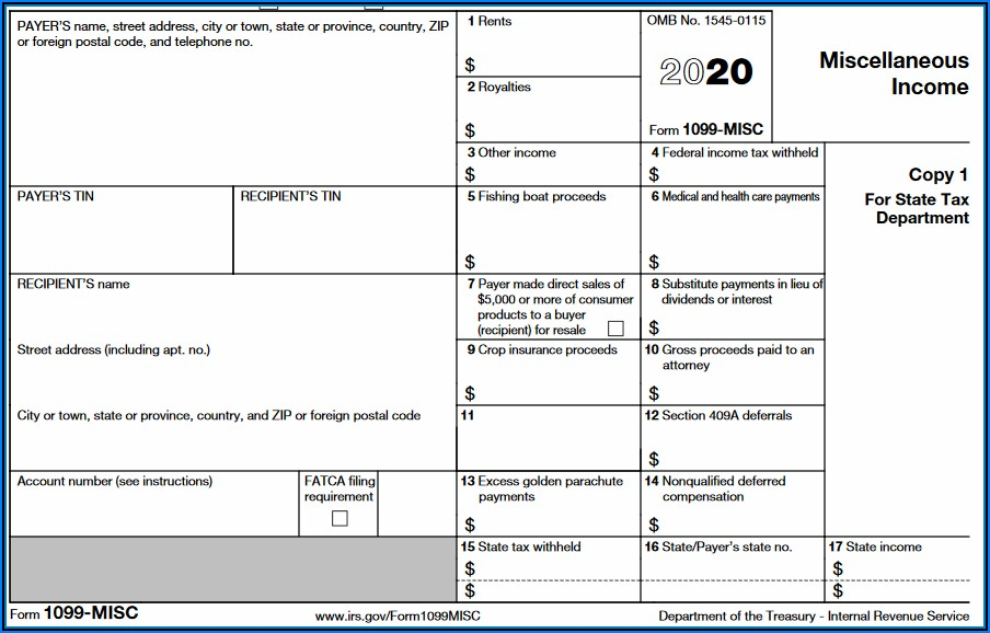 Request Form 1099 Misc Irs