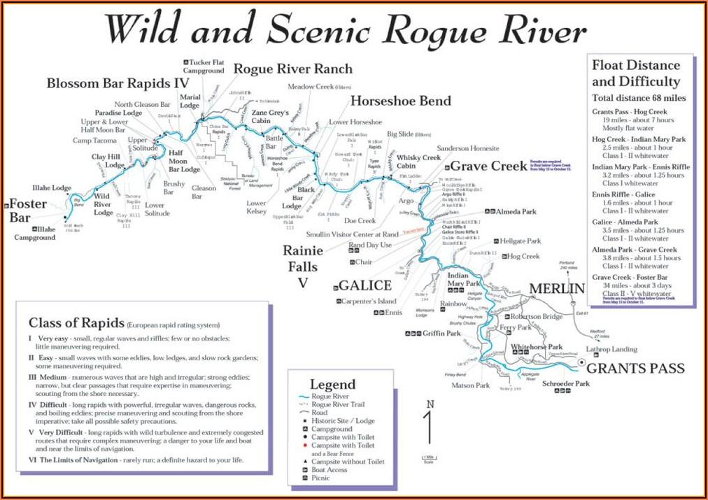 Rogue River Oregon Rafting Map