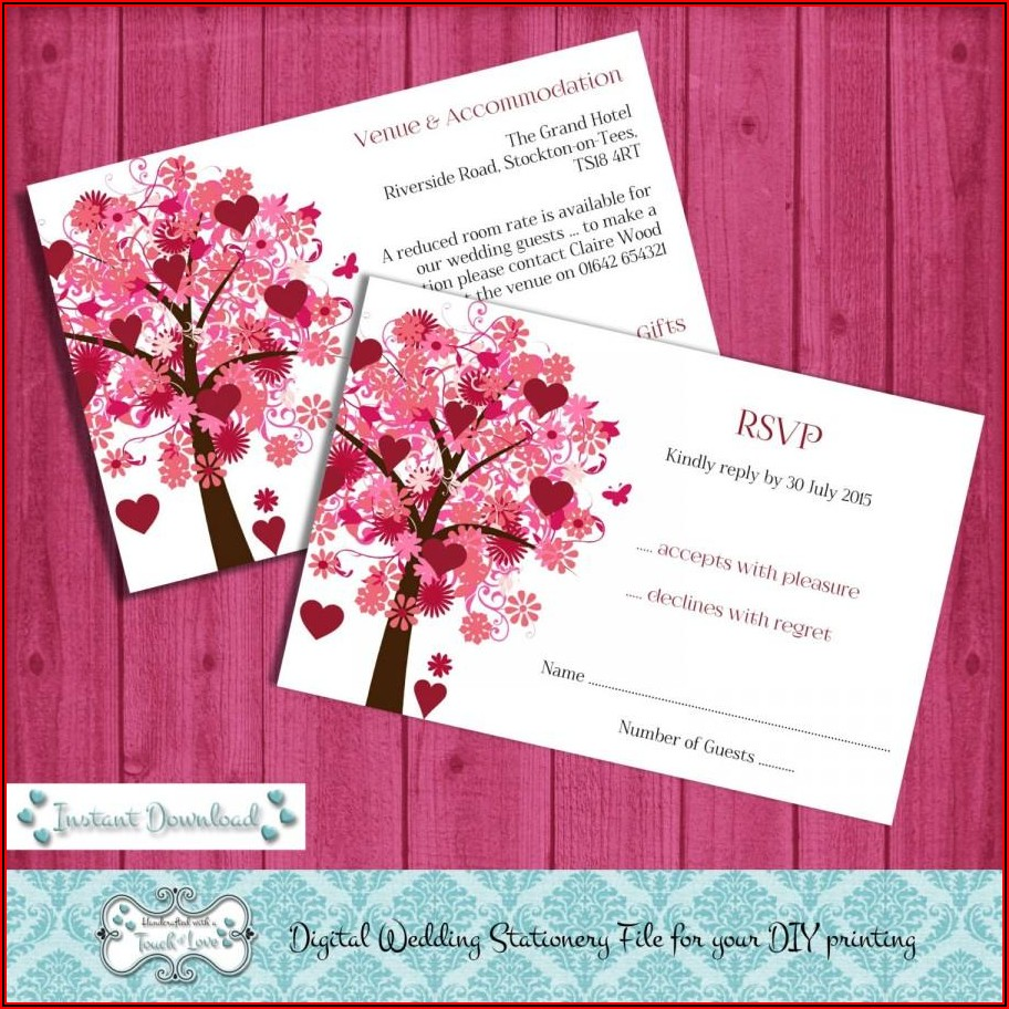 Rsvp Card Template Microsoft Word