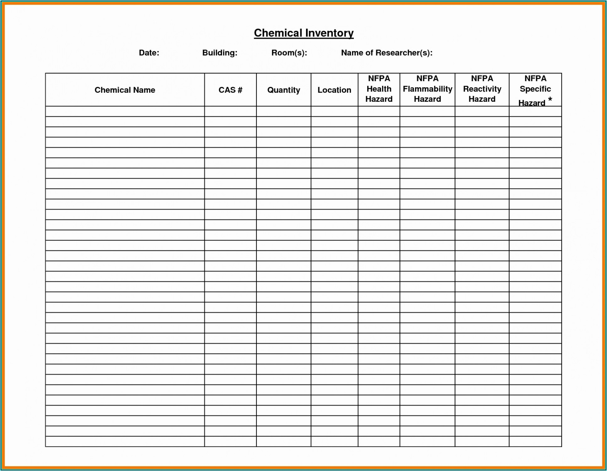 Sample Format Of Office Supplies Inventory