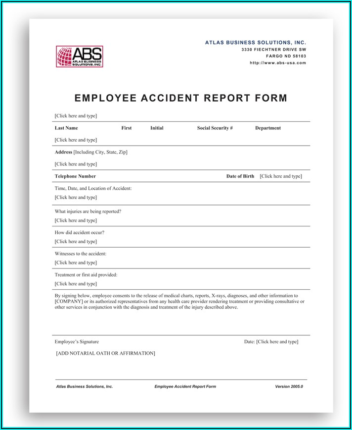 Sample Hr Forms Templates
