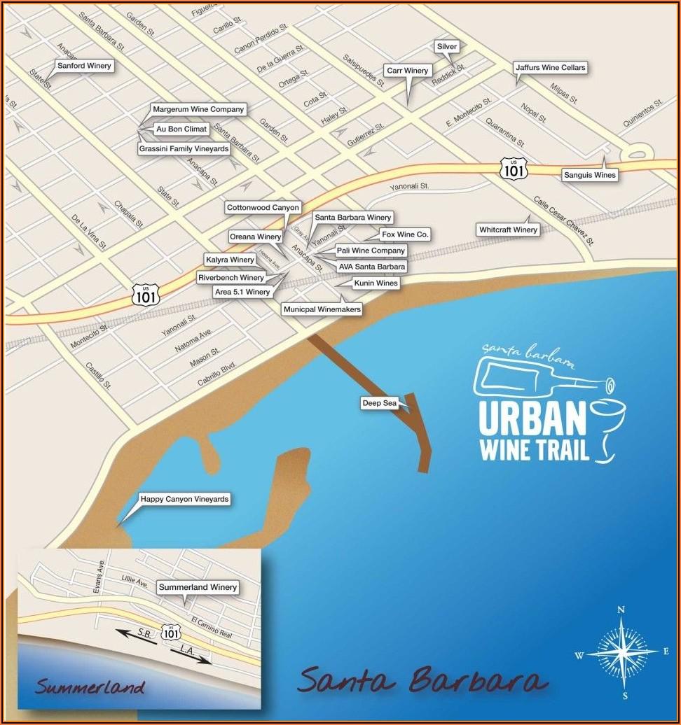 Santa Barbara Wine Tasting Map