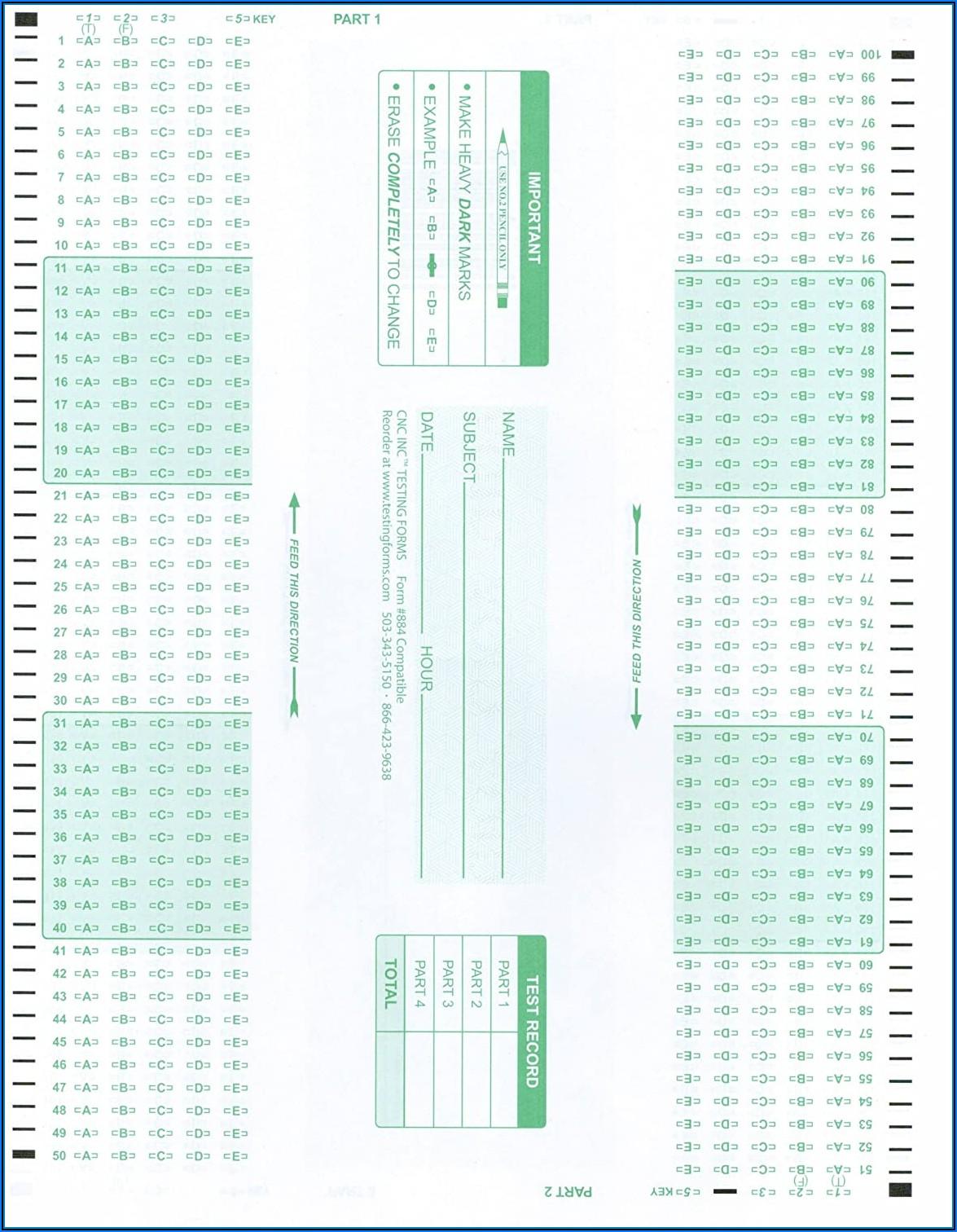 Scantron Form 882 E Staples
