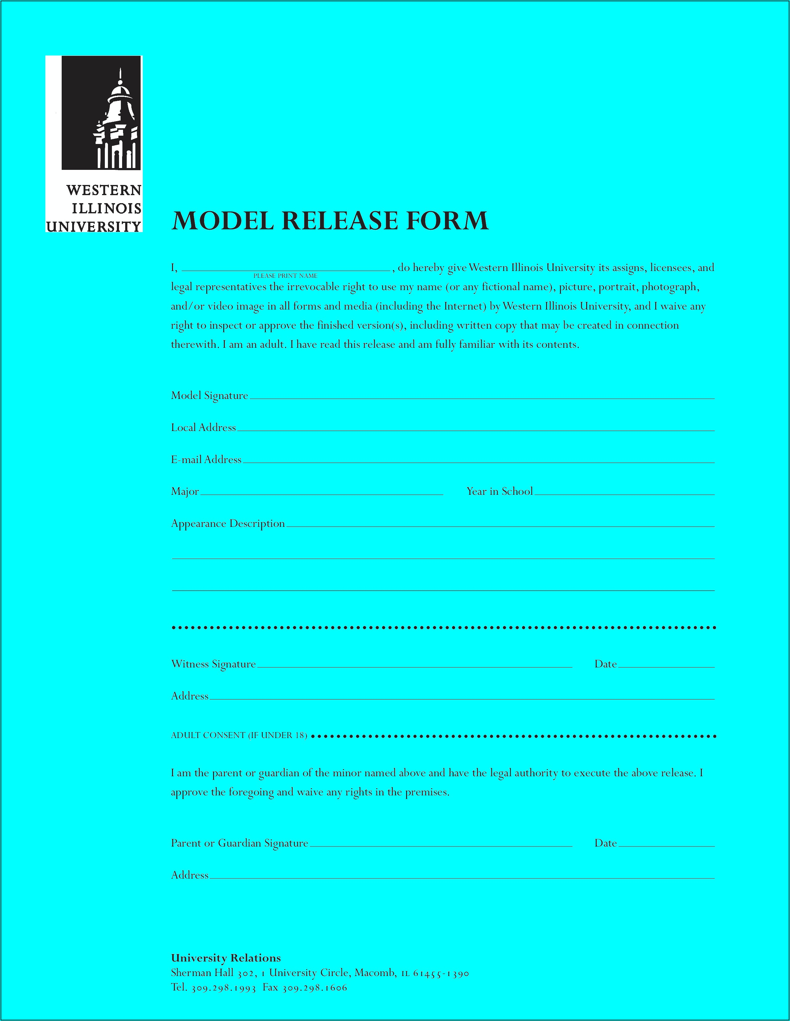Simple Model Release Form