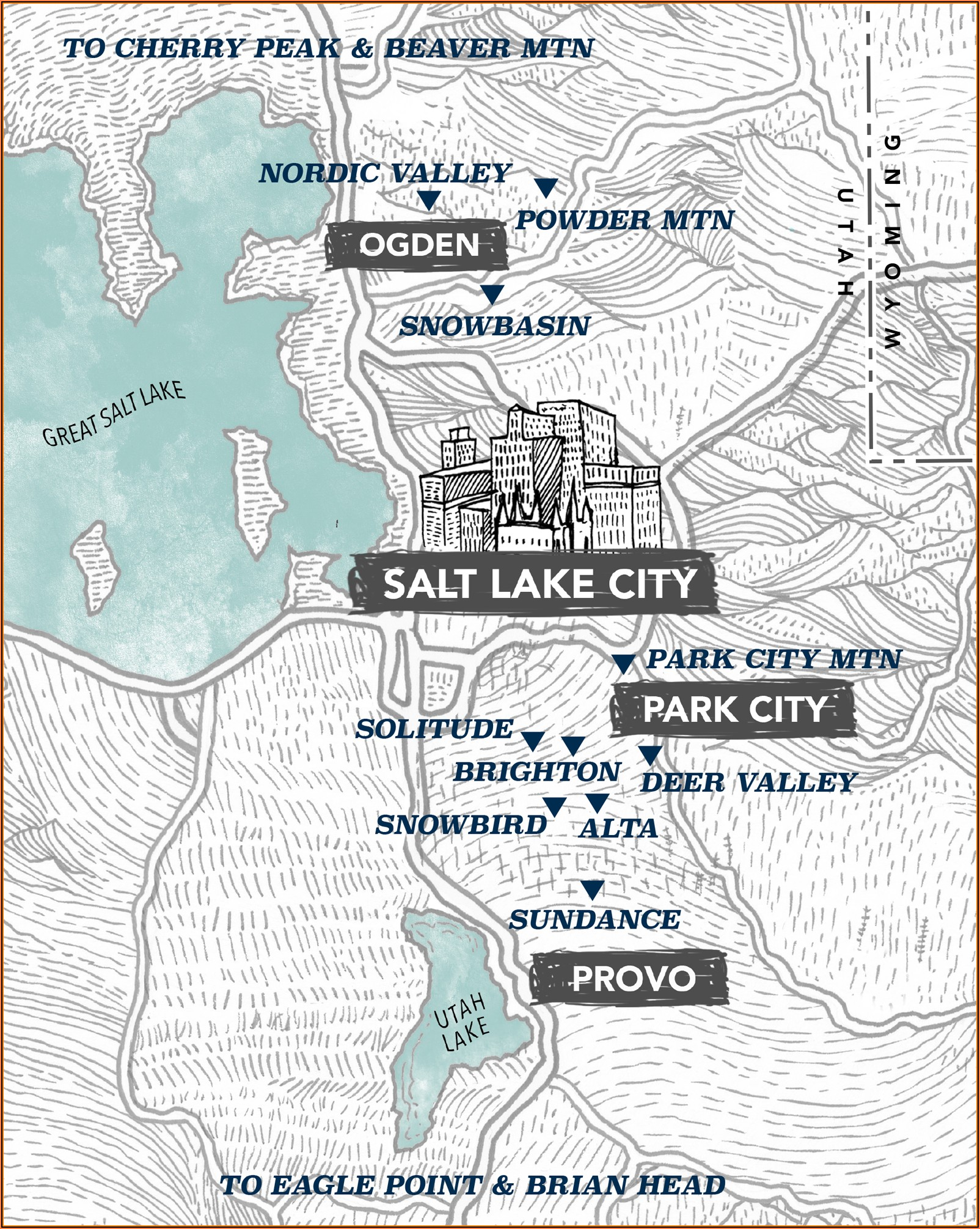Ski Resorts In Utah Map