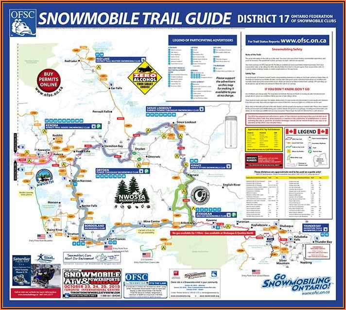 Snowmobile Trail Maps Ontario Canada