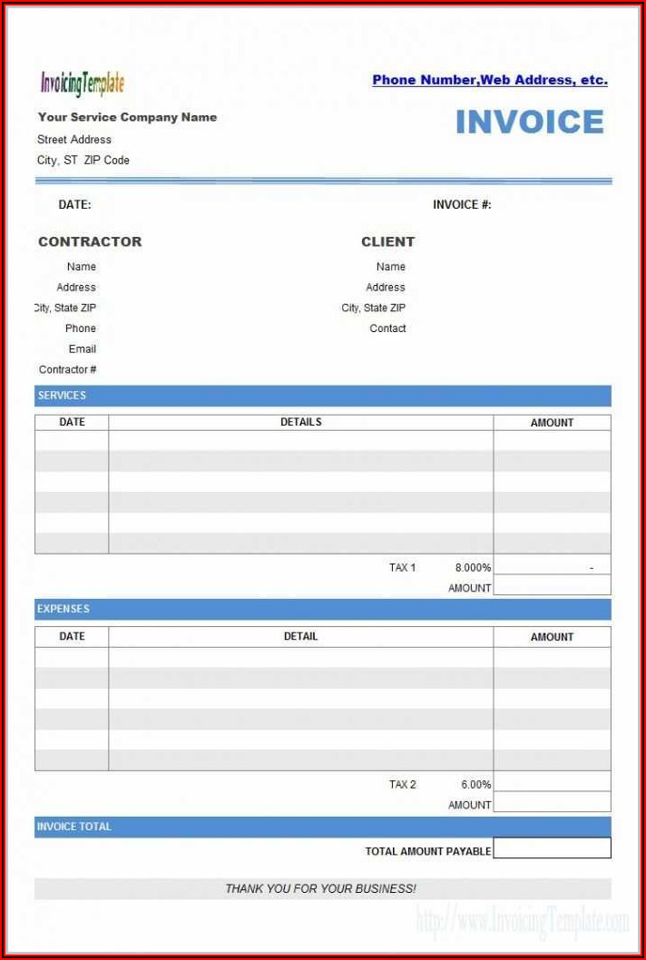 Software Invoice Template Word