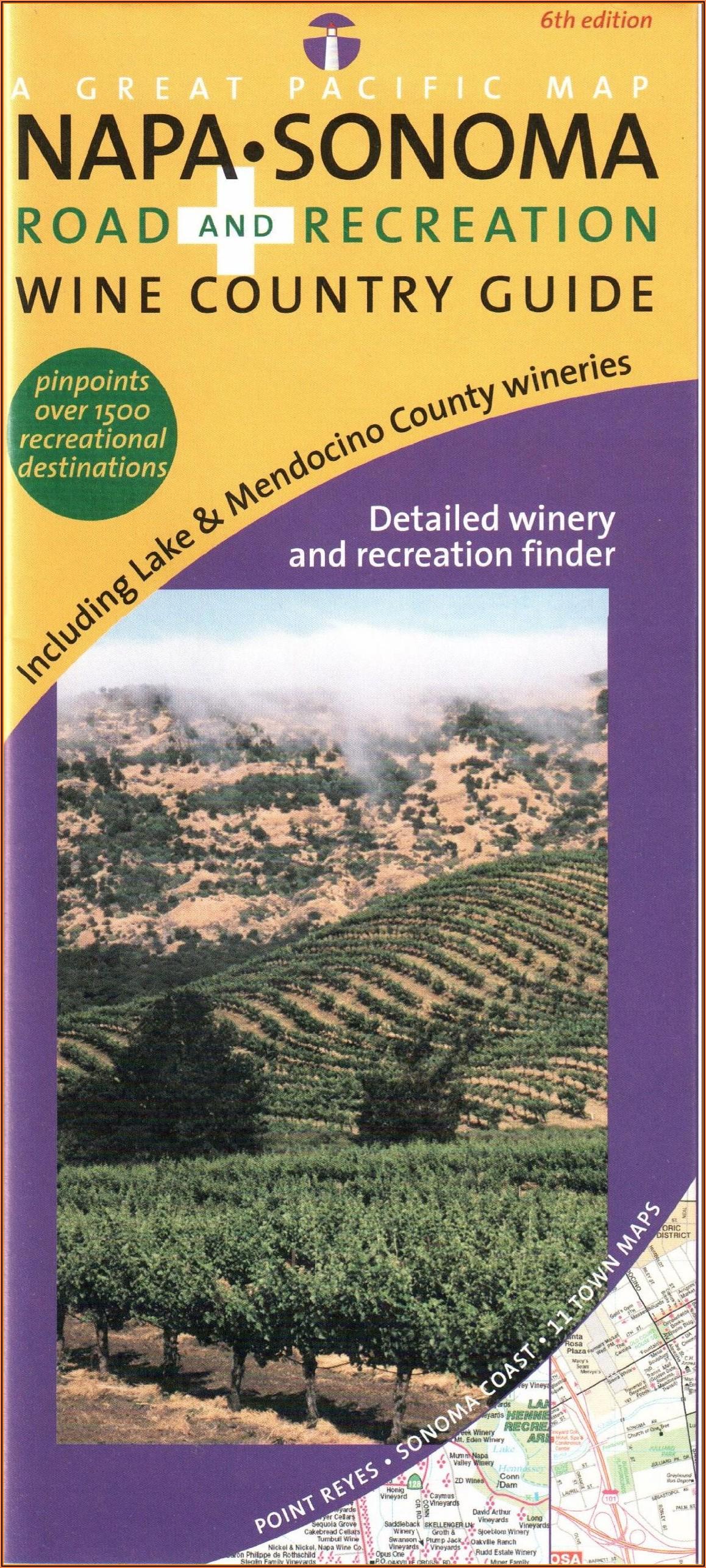 Sonoma Wine Road Map